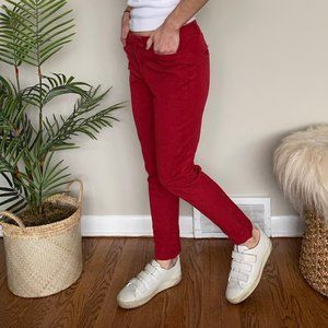 White House Blk Market bright red stretch trousers